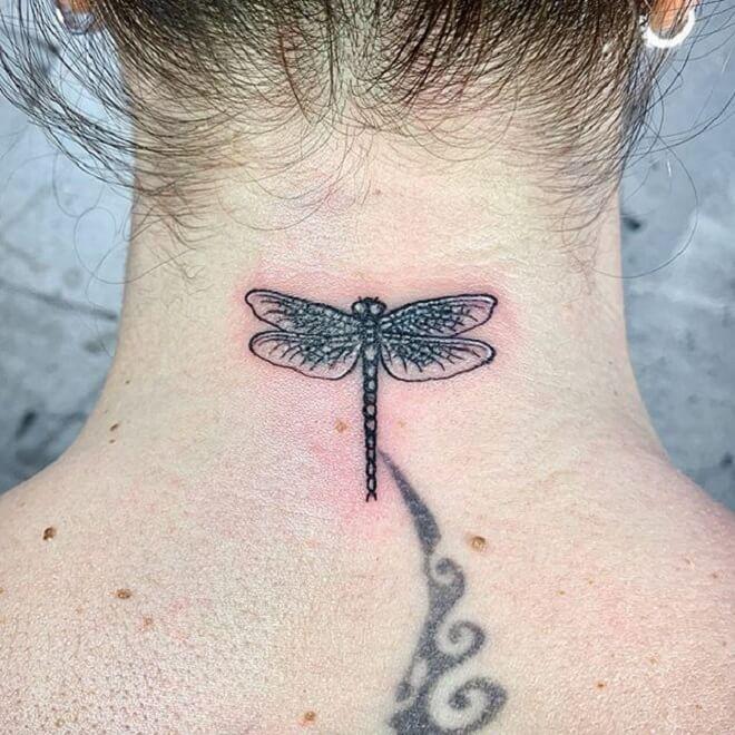 Neak Dragonfly Tattoo