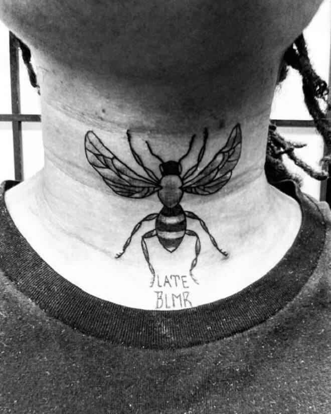 Neck Black Tattoos