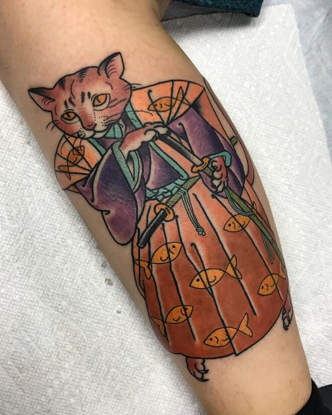 Neotraditional Archive Tattoo