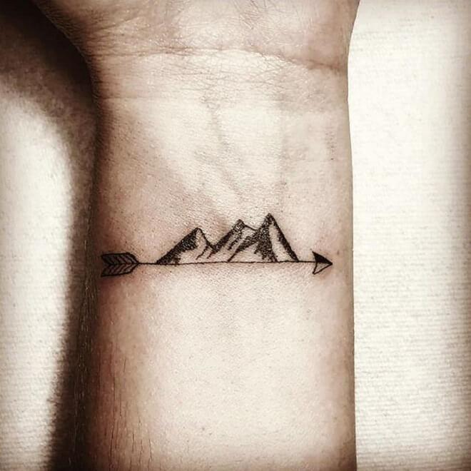 Nice Placing Mountain Tattoos