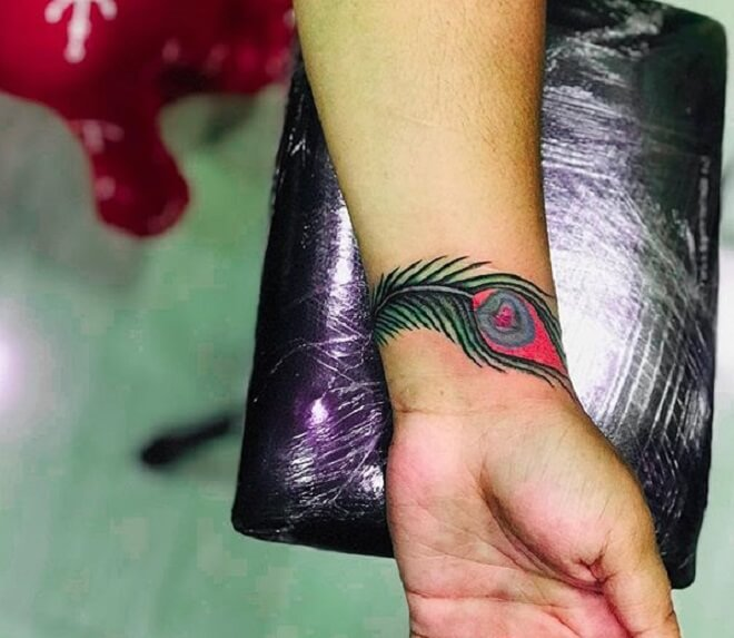 Peacock Feather Tattoo for Women