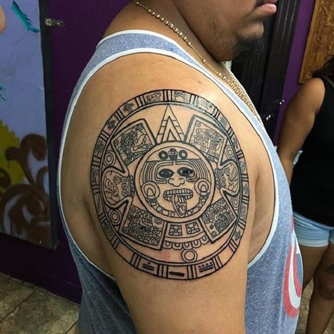 Perfect Aztec Tattoo