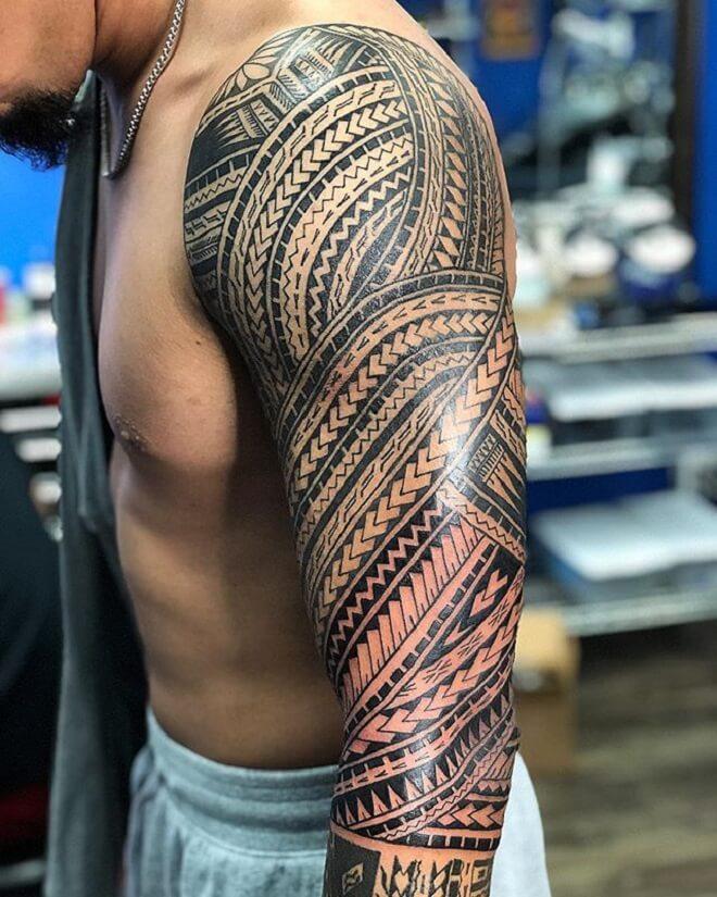 Polynesian Line Tattoo