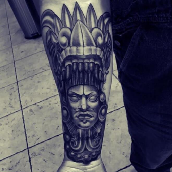 Popular Aztec Tattoo