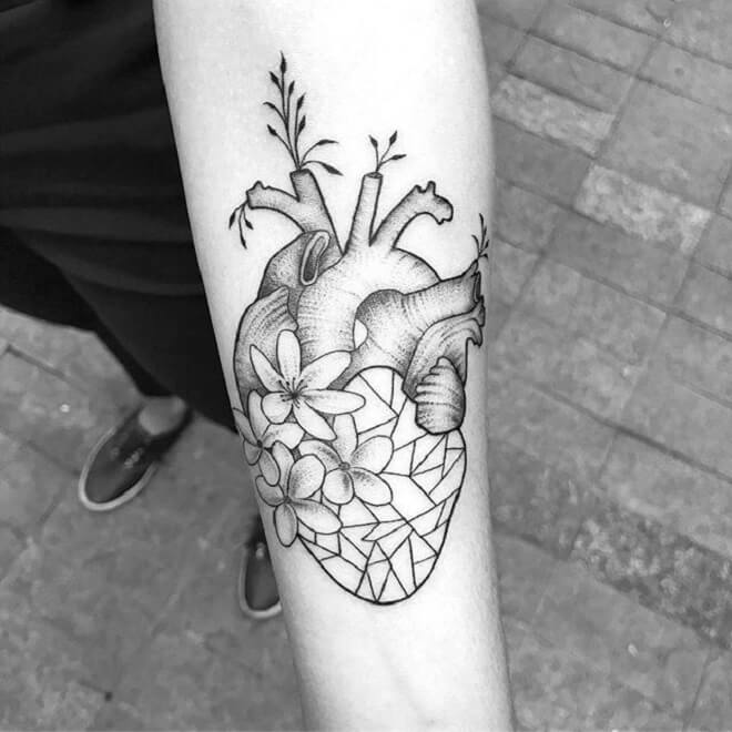 Popular Heart Tattoo