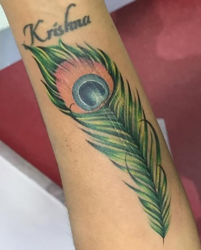 Popular Peacock Feather Tattoo