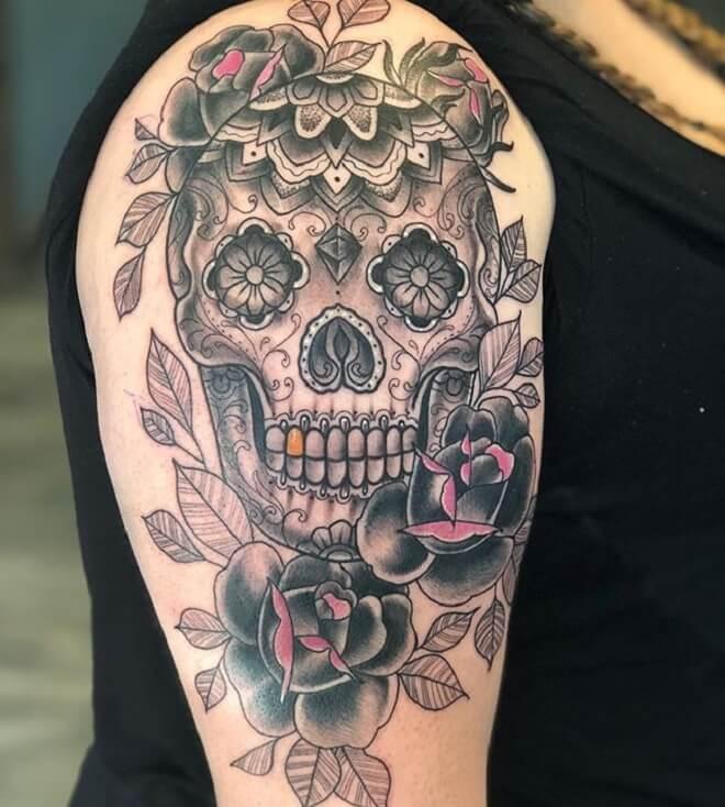 Popular Sugar Skull Tattoo