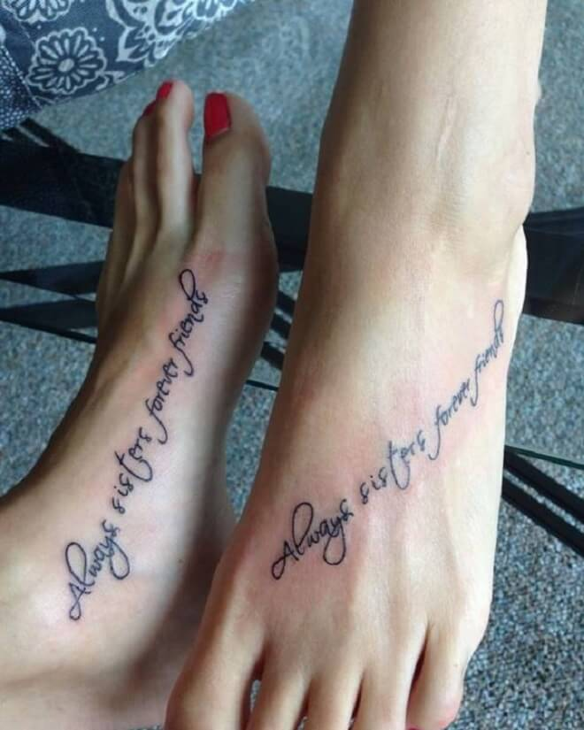 Quotes Ankle Tattoo