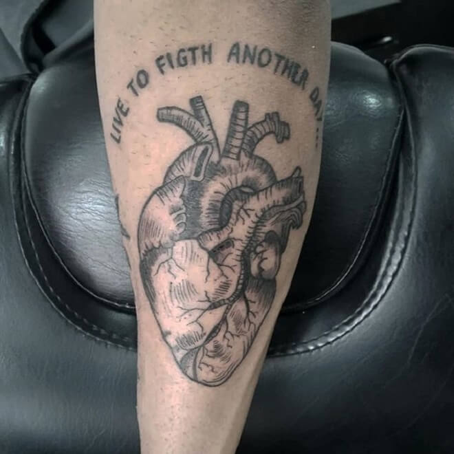 Quotes Heart Tattoo