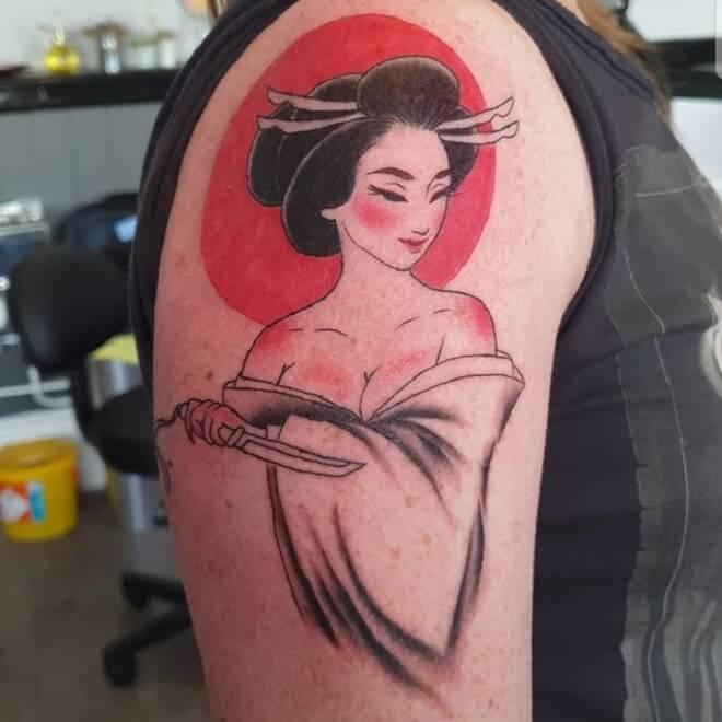 Red Geisha Tattoo
