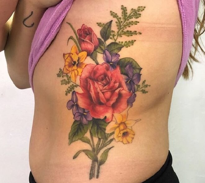 Red Rose Girl Tattoo