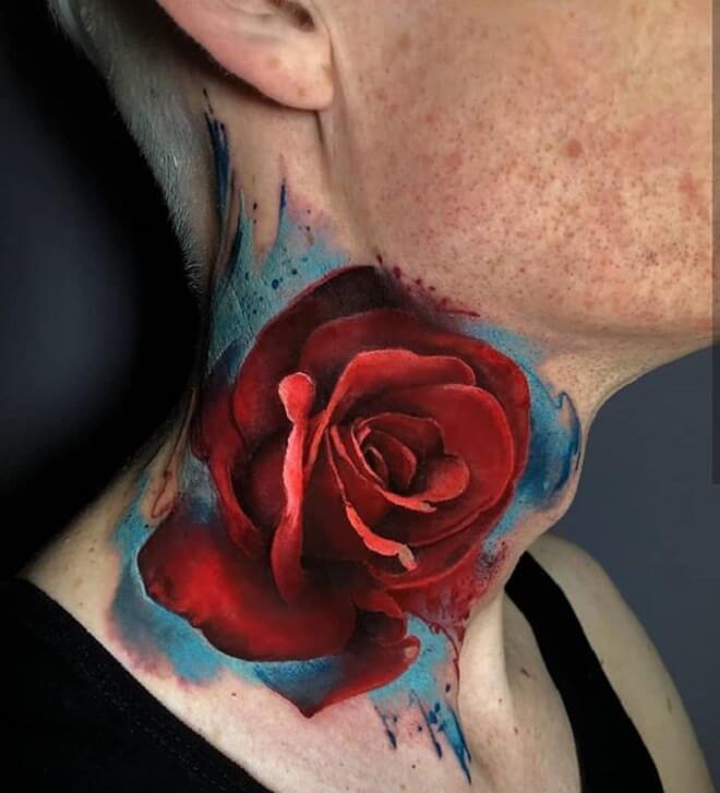 04505b414c533 Top 30 Neck Tattoos for men & women | Amazing Neck Tattoo Ideas
