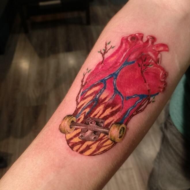 Red Sport Tattoo