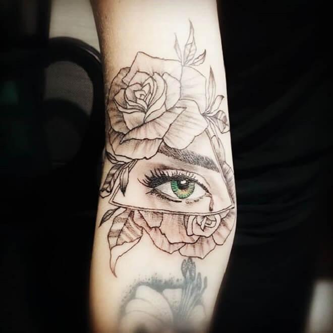 Rose Eye Tattoos