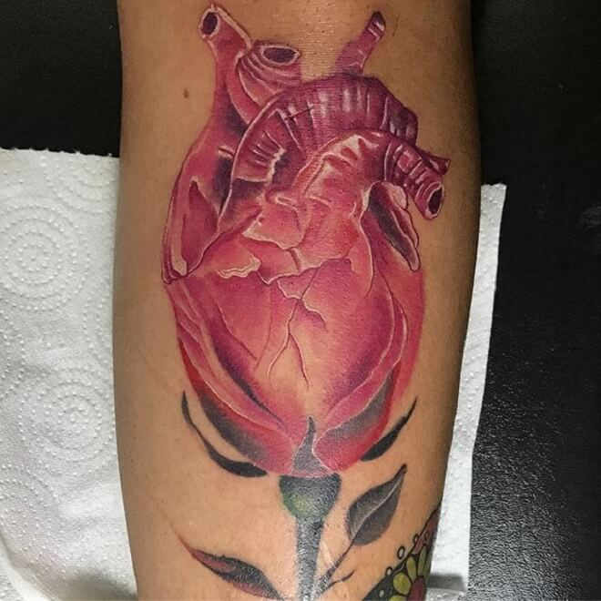 Rose Heart Tattoo
