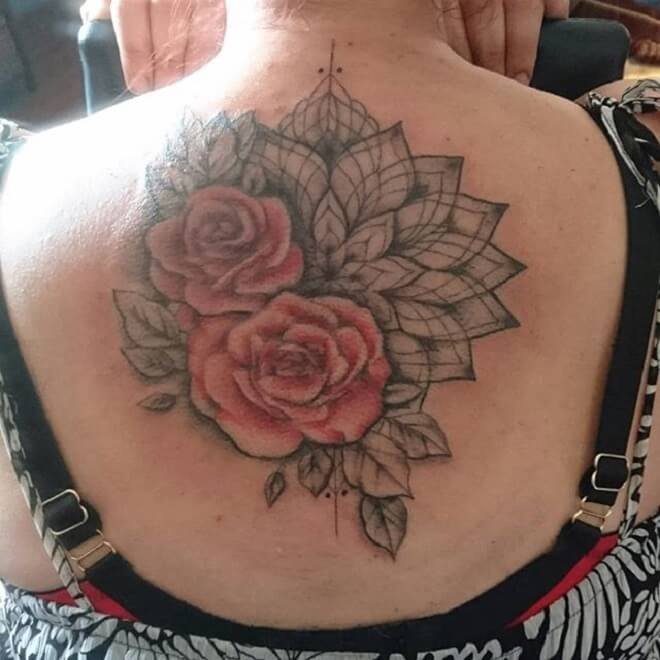 Rose Mandala Tattoos