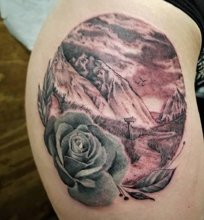 Rose Mountain Tattoo