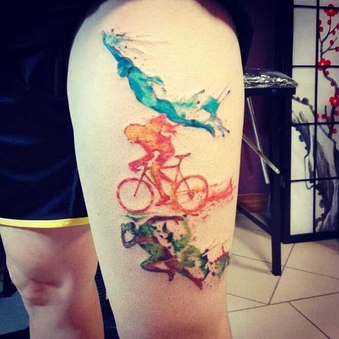 Running Sport Tattoo