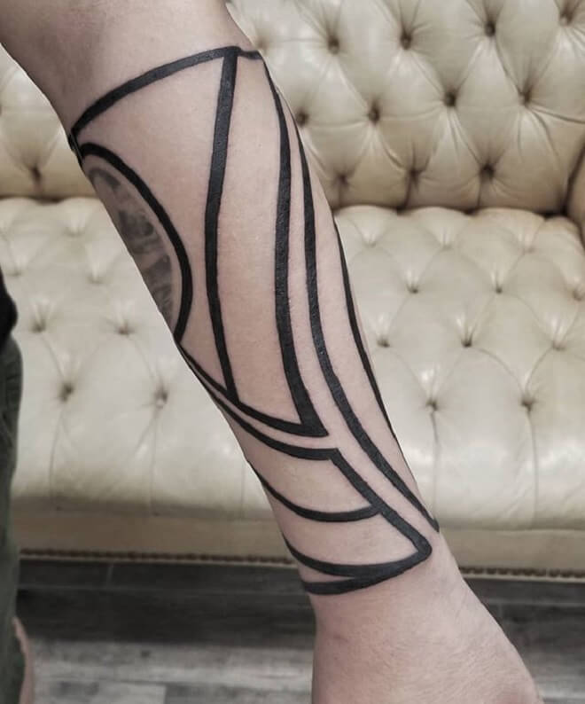 Simple Line Tattoo