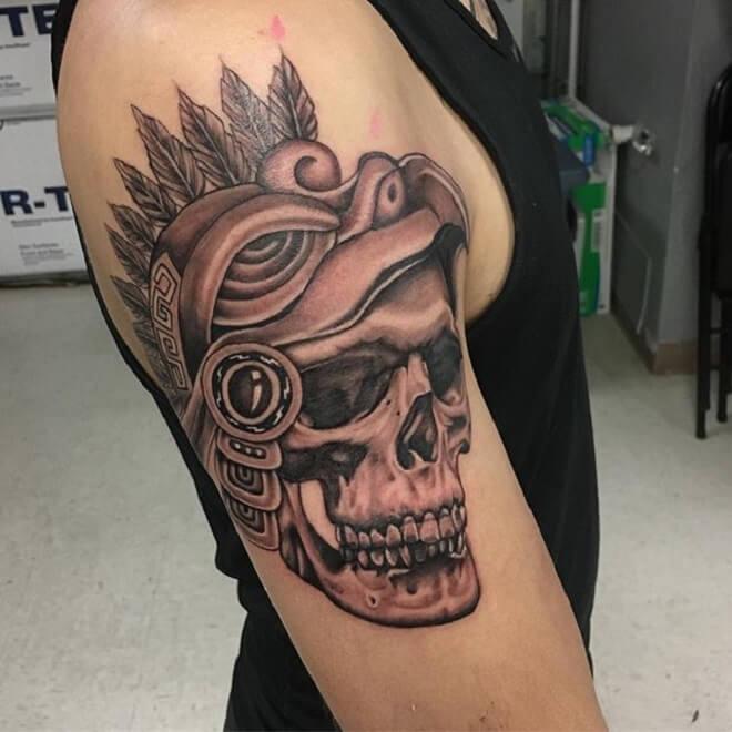 Skull Aztec Tattoo