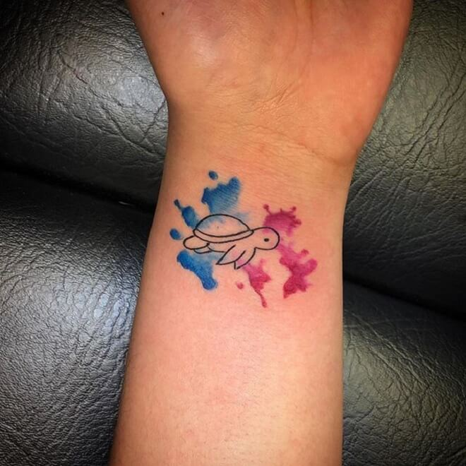 Small Cute Turtle Tattoo