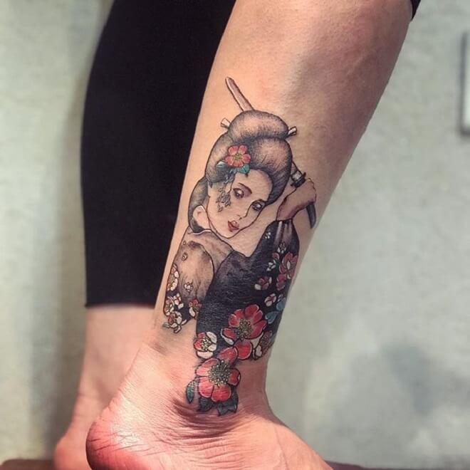 Small Geisha Tattoo