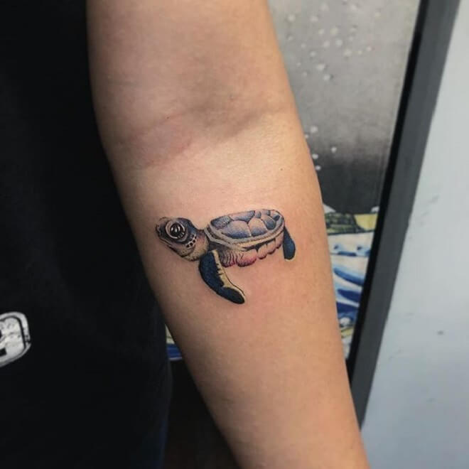 Small Turtle Tattoo