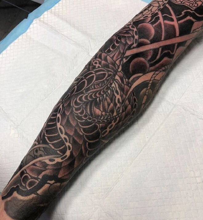 Snake Japanese Tattoo