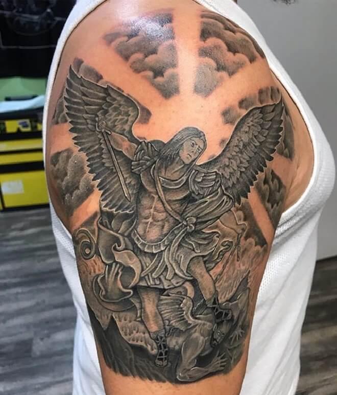 St Michael Tattoo for Men