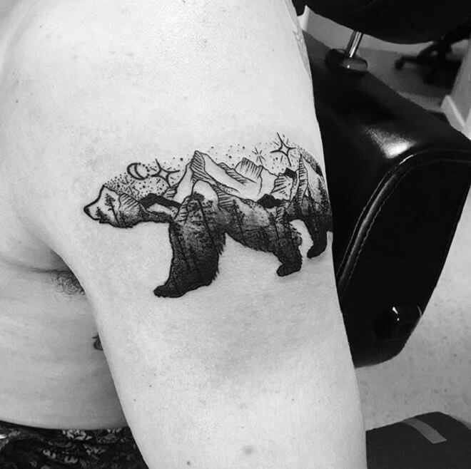 Subtle Mountain Tattoo