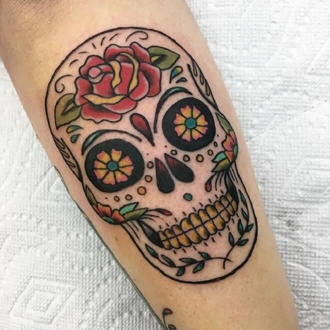 Sugar Skull Tattoo Work
