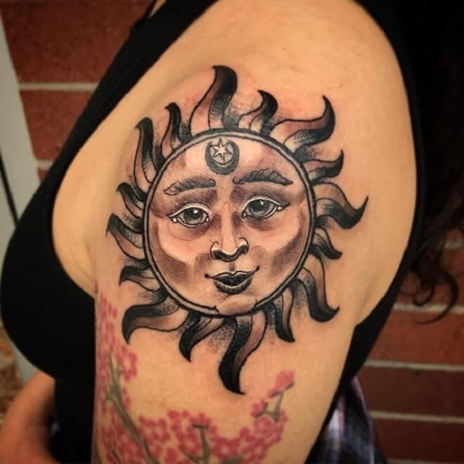 Sun Tattoo for Women