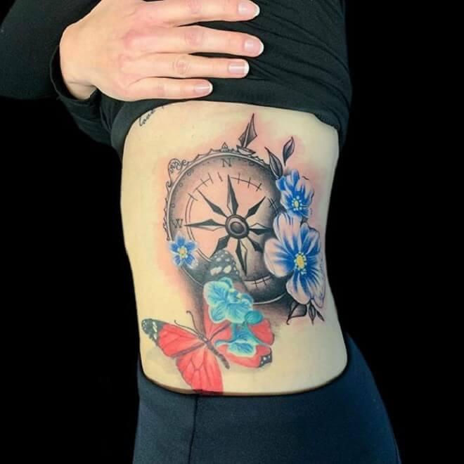 Super Compass Tattoo
