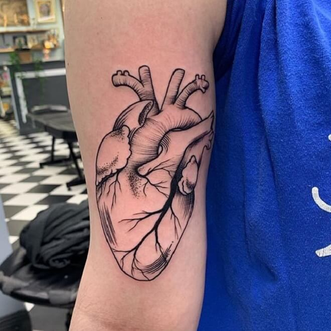 Super Heart Tattoos
