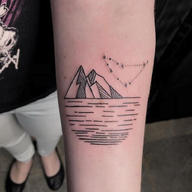 Super Simple Mountain Tattoo