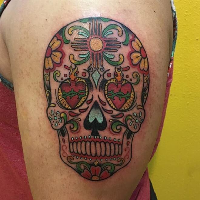 Super Sugar Skull Tattoo