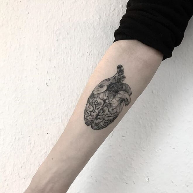 Supreme Heart Tattoo