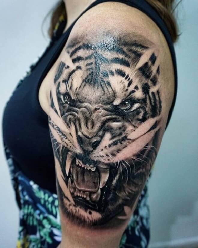 Tiger Tattoo Style