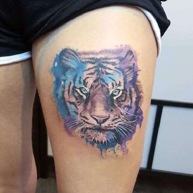 Tiger Tattoo for Girl