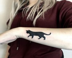 Top Black Cat Tattoo