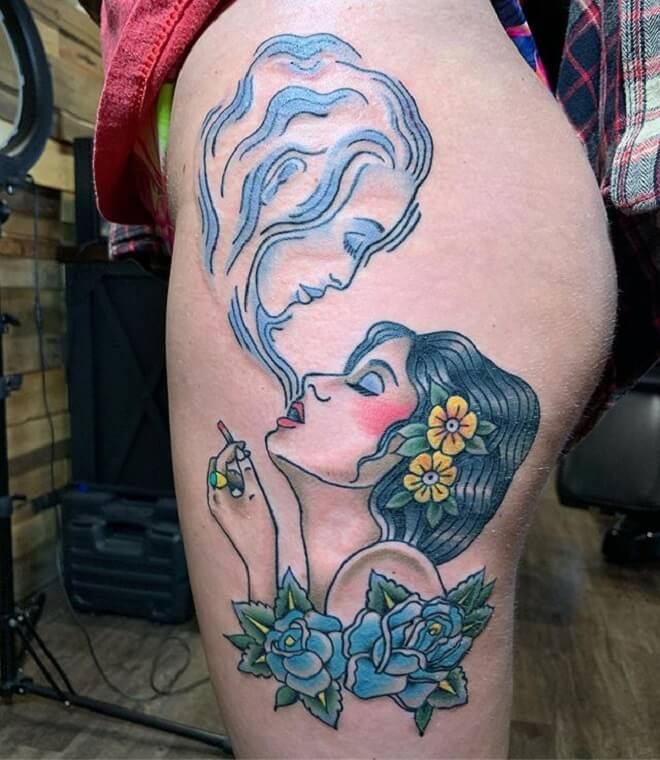Traditional Hip Tattoo