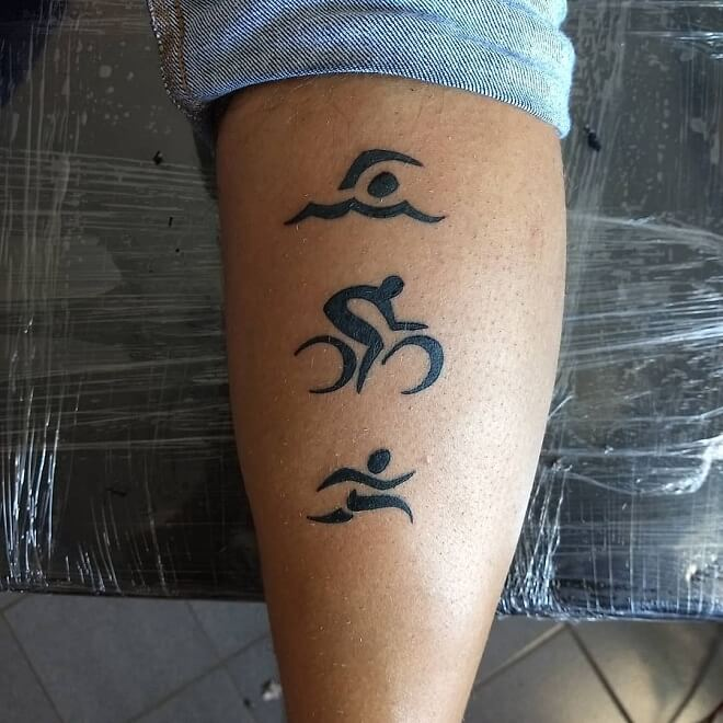 Triathlon Sport Tattoo