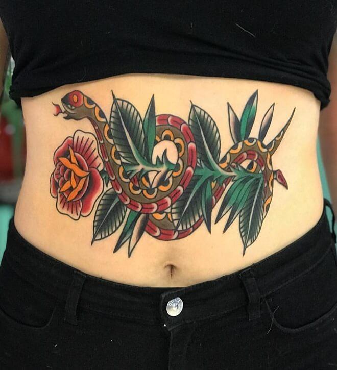 Tummy Stomach Tattoo