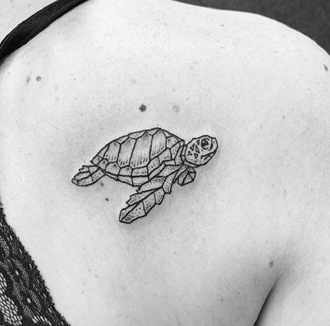 Turtle Geometric Tattoo