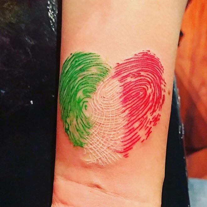 Water Color Fingerprint Tattoo