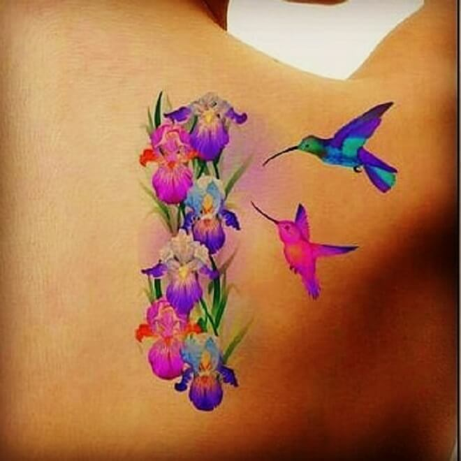 Water Color Flower Tattoo