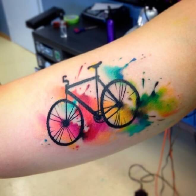 Water Color Sport Tattoo