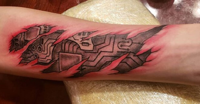 Amazing Circuit Tattoo