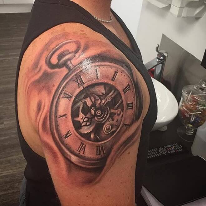 Amazing Clock Tattoo