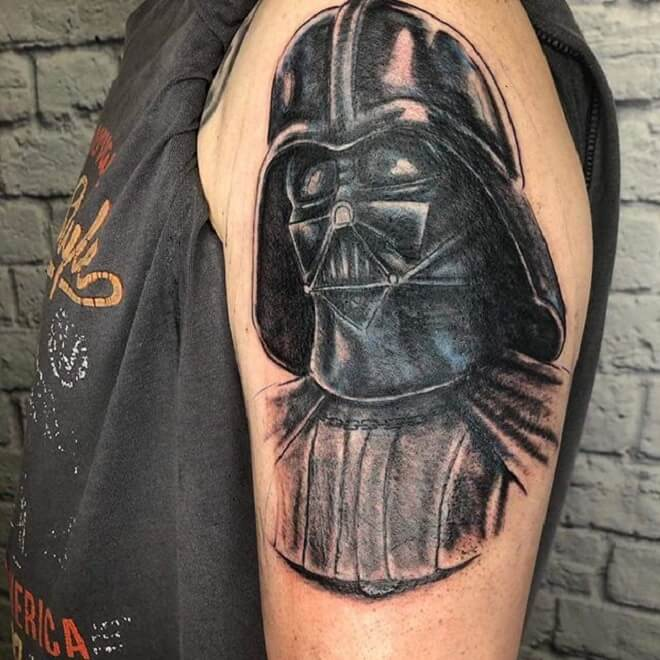 Amazing Darth Vader Tattoo